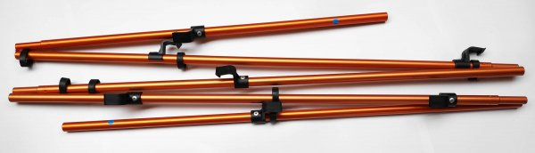 PakCanoe 160 - floor rod with clips