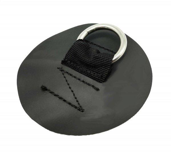 D-Ring (Edelstahl) mit kleinen runden PVC Patch